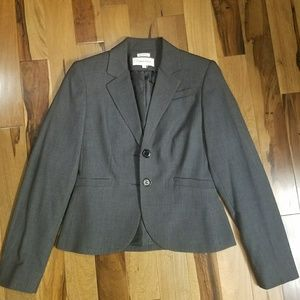 🌟Calvin Klein Gray Two Button Suit Jacket